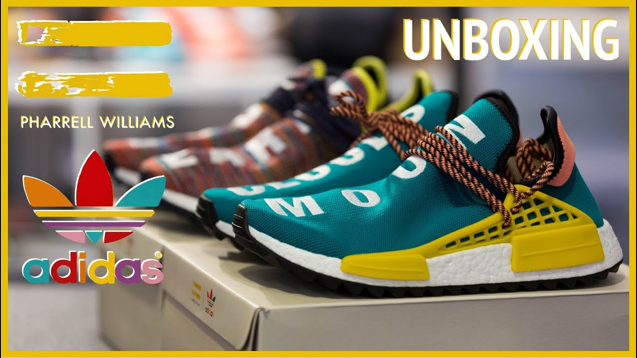 35eed4e9083eb Pharrell x adidas NMD Hu Trail Collection - BBASHI Unboxing - YouTube