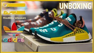 615b705aa281 Pharrell x adidas NMD Hu Trail Collection - BBASHI Unboxing