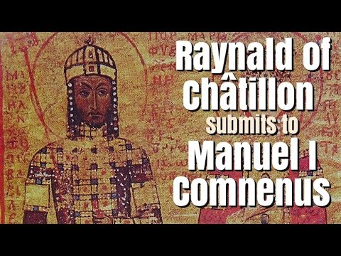 Raynald of Châtillon Submits to Emperor Manuel I Comnenus