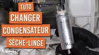 Comment changer le condensateur moteur d'un sèche linge