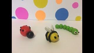 Лепка для детей, насекомые. Урок №1