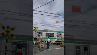 JR宇都宮線(東北本線) 踏切(スマホで撮影)
