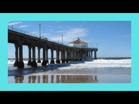 The beautiful Manhattan Beach Pier on a nice day, California (USA)