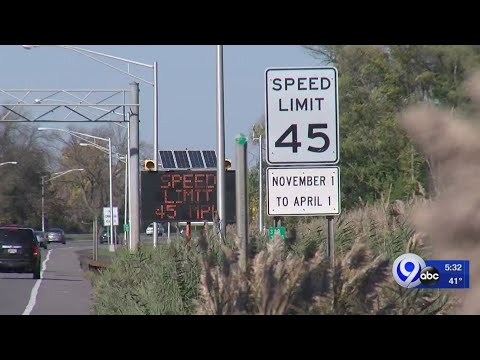 Tom & Becky - Speed Limit On Onondaga Lake Parkway Has Dropped To 45 MPH For The Winter