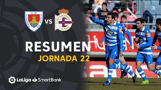 Resumen de CD Numancia vs RC Deportivo (0-1)