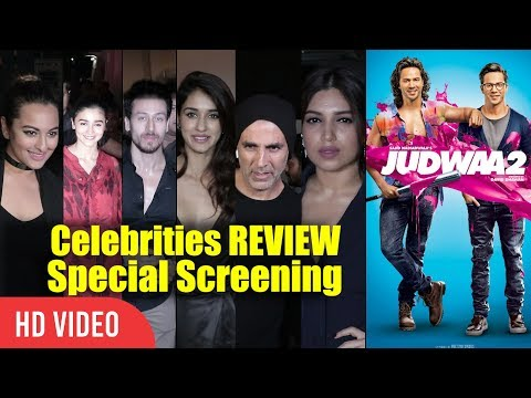 Judwaa 2 Review | Bollywood Celebrities Watching Judwaa 2 | Judwaa 2 Night Show Special