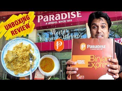 Paradise Biryani Unboxing And Review Of Airplane Pack | Family Size Hyderabadi Chicken Dum Biriyani