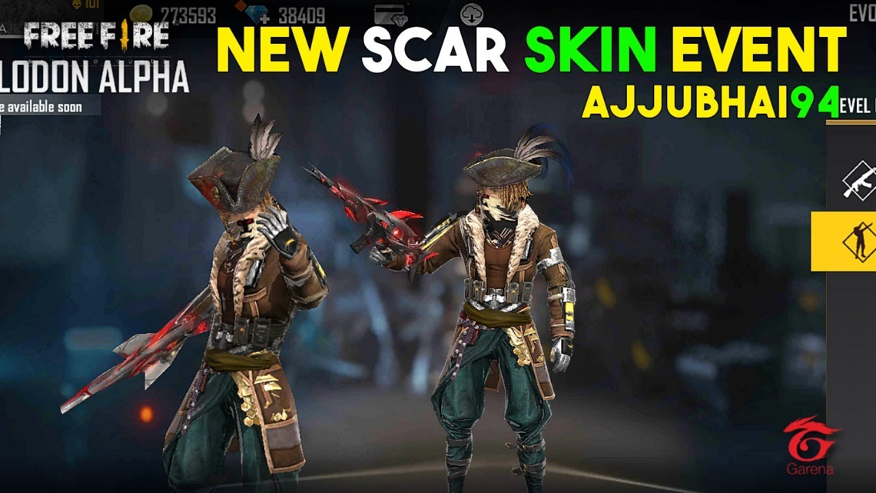Free Fire Live New Event Scar Faded Wheel and Play with Amitbhai - Garena Free Fire
