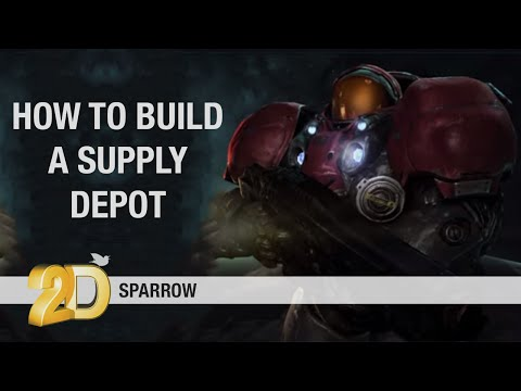 How to build a supply depot - Starcraft Tutorial