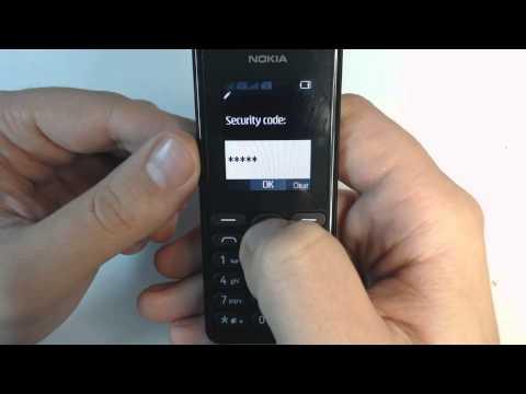 Nokia 108 factory reset