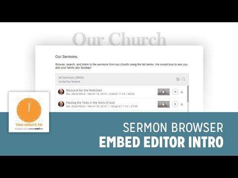 SermonAudio | SermonAudio Tip: Embed Everything    Ultimate