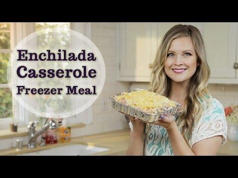 Enchilada Casserole Freezer Meal!!
