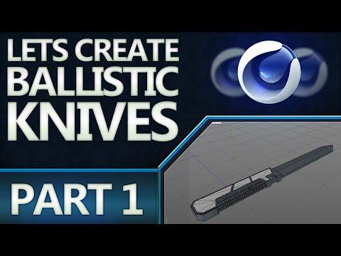 Tutorial: Modeling Ballistic Knives! (C4D)