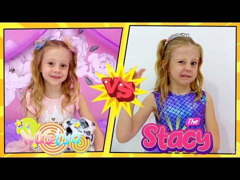 Nastya and Stacy show good and bad behavior for kids