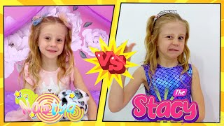 Nastya and Stacy show good and bad behavior for kids