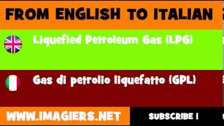 How to say Liquefied Petroleum Gas LPG in Italian
