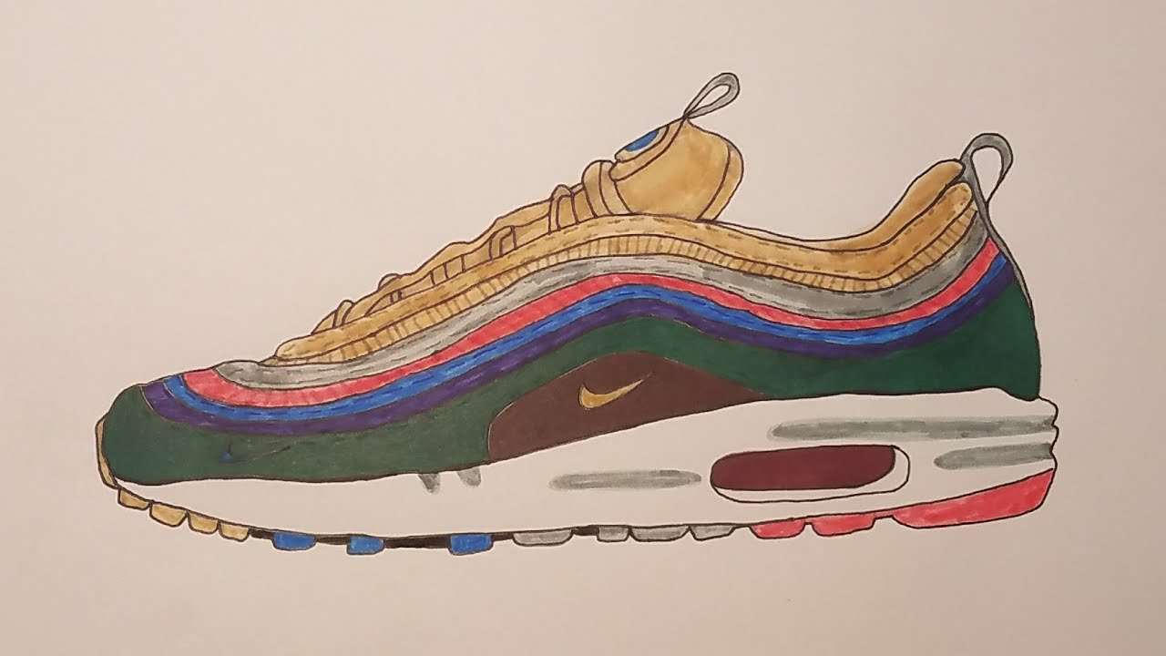reputable site 8bf1c 9fccb How to draw Sean Wortherspoon Air Max 1 97!!!