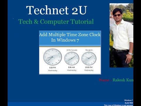 How to Add Multiple Time Zone Clock on Windows 7