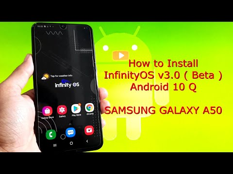 InfinityOS v3.0 OneUI 2.5 for Samsung Galaxy A50 Android 10 Q ( Beta )