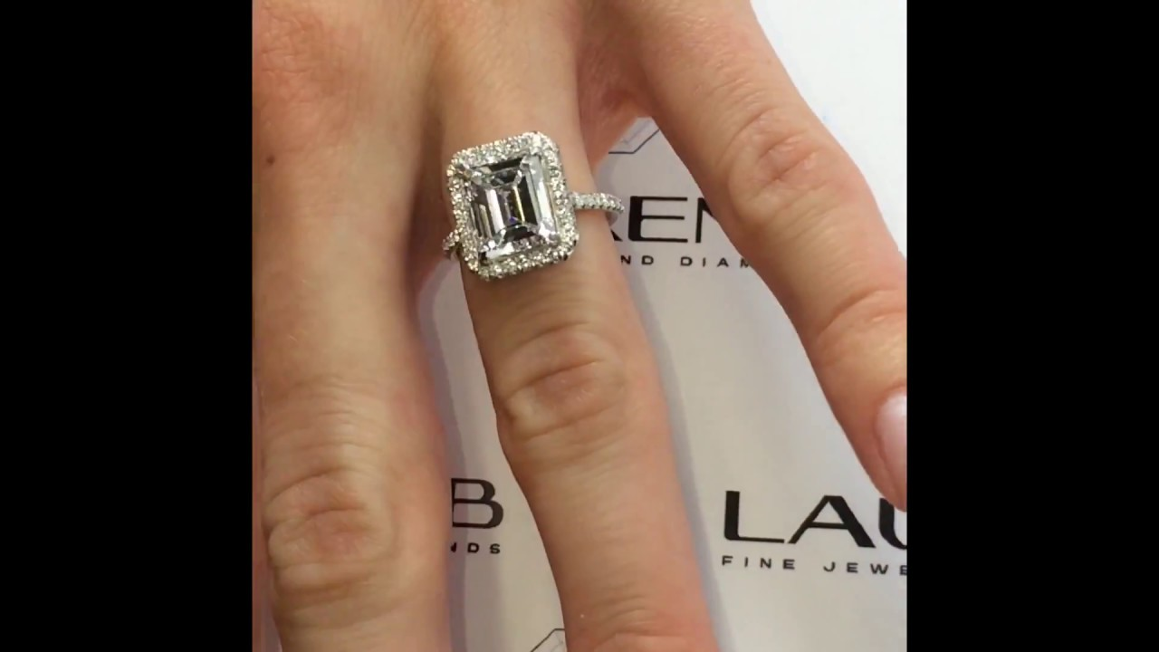 in diamond white modern engagement emerald cut home gold product ring