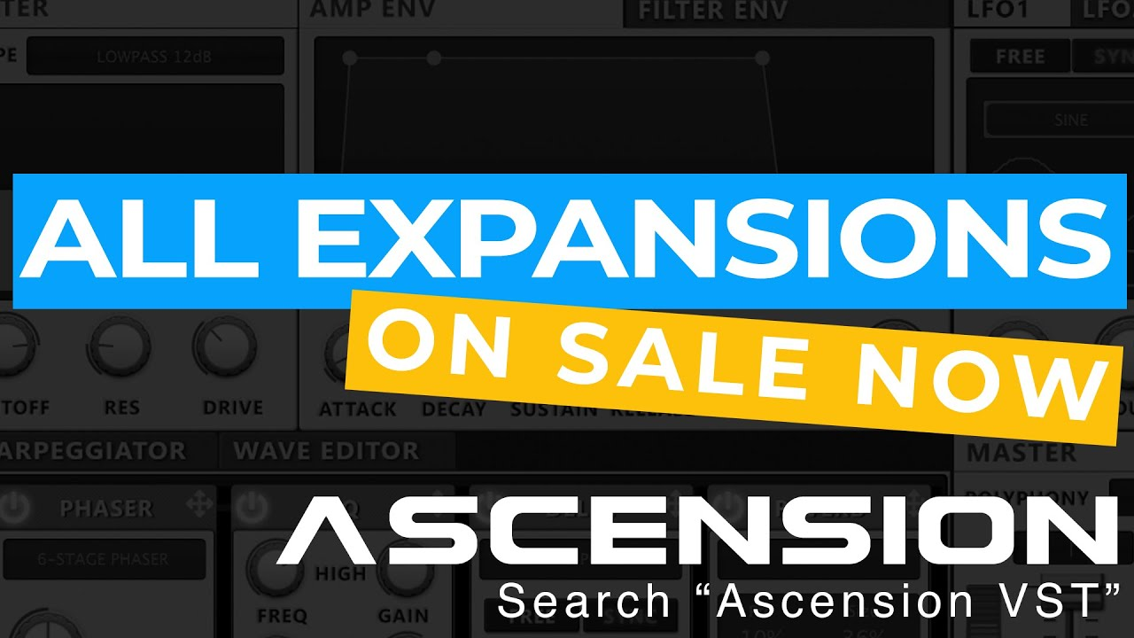 Ascension Synthesizer + All Sound Expansions Bundle
