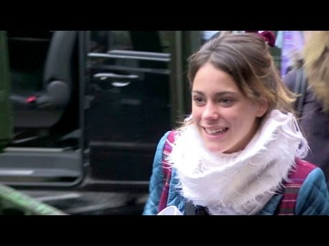 Tini Stoessel from Violetta arriving at  Grand Rex in Paris