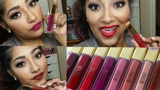 NEW Milani Amore Matte Lip Cremes Lip Swatches + Review LIMITED EDITION