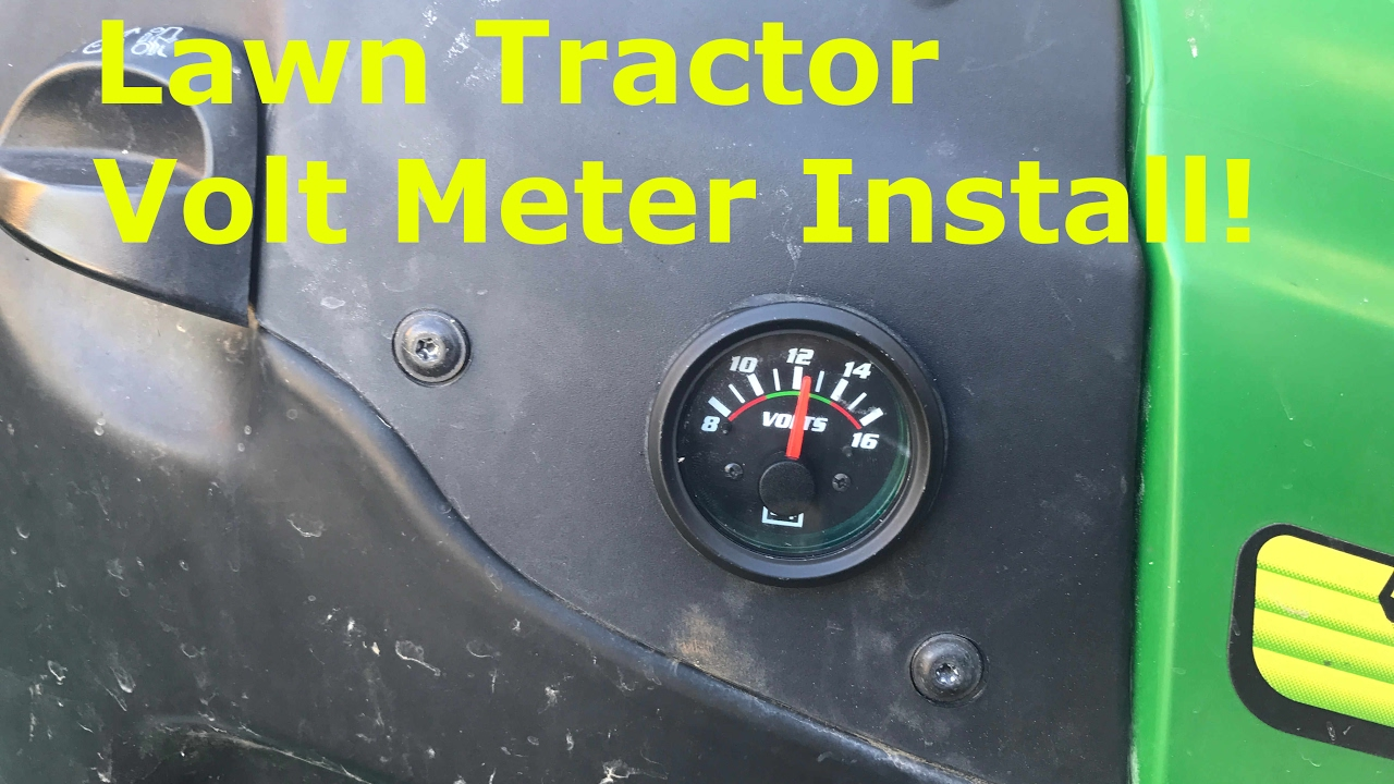Riding Mower Volt Meter Install