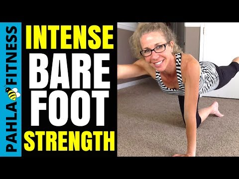 Intense Barefoot Functional Strength | 40 Minute Full Body Workout to Tone + Strengthen No Equipment