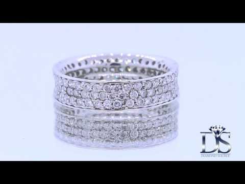 18kt White Gold Diamond Eternity Band 2.50ct BA-171500