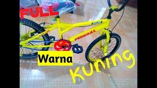 Mengecat Ulang Sepeda Bmx Warna Kuning Youtube