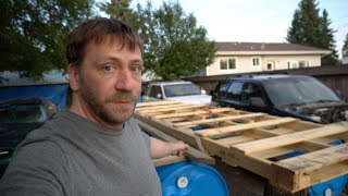 Quick Subscribers Update, I'm Building A Rain Barrel Camping Raft!