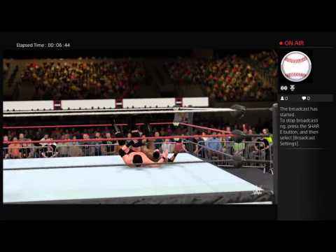 WWE 2K16 Brian H Waters Career mode PS4 Broadcast