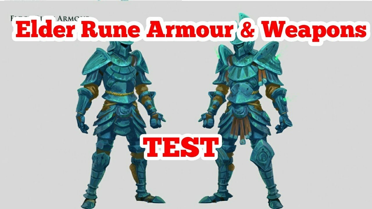 Runescape 3 Complete Test Of The Elder Rune Armour And Weapons Youtube