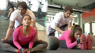 Neetu Chandra's HOT & Super Flexible Gym Workout Video