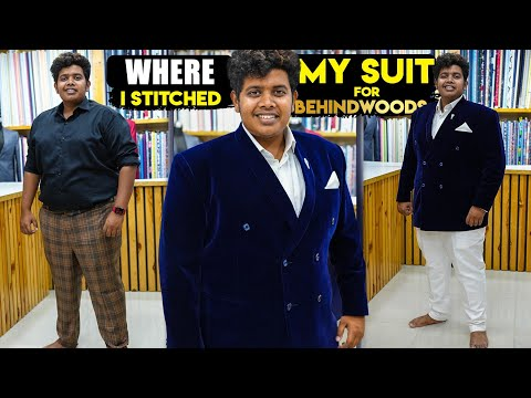 Blue Suit stitched for Behindwoods Award show at Mizaj, Mannadi - Irfan's view