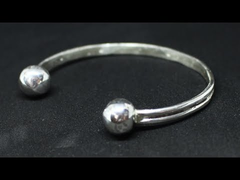HOW TO MAKE A SILVER CUFF BRACELET