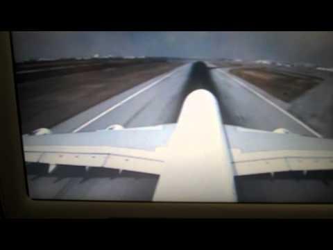 A380 Take Off Bangkok Tail Cam