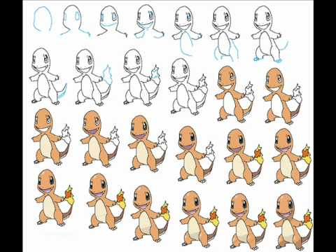 How To Draw Charmander The Pokemon Easy Simple Step By Step Drawing