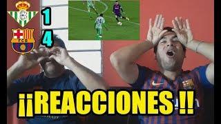 REACCIONES BETIS 1 BARCELONA 4 HATTRICK DE MESSI HOY REACCIONES
