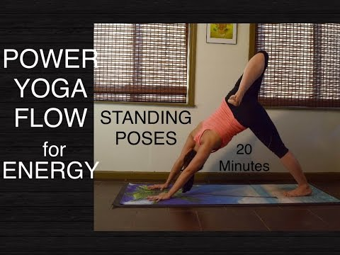 Intermediate Energizing Power Vinyasa Flow Yoga - 20 Minutes (Standing Poses)