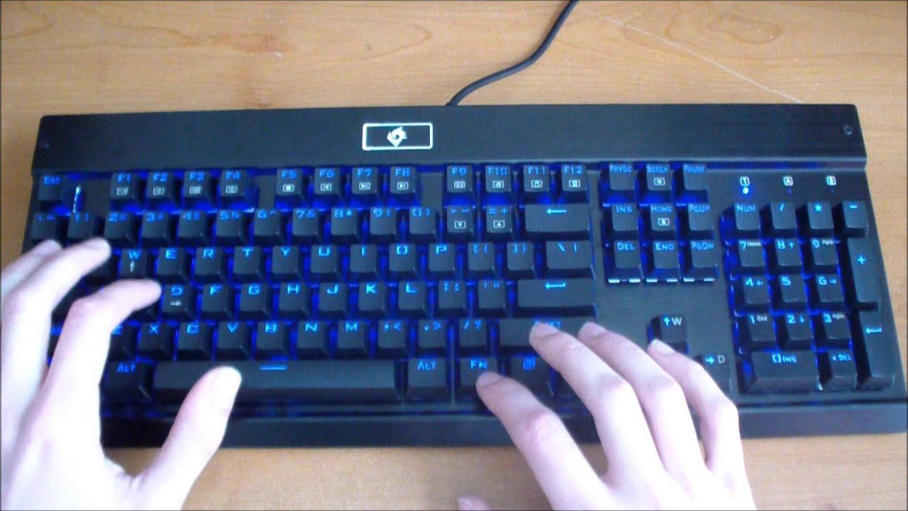 7c6ebd452ee EagleTec Mechanical Keyboard Key Analysis [KG010] - YouTube