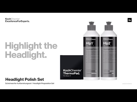 Headlight Polish Set: Die Anwendung. | Koch-Chemie ExcellenceForExperts.