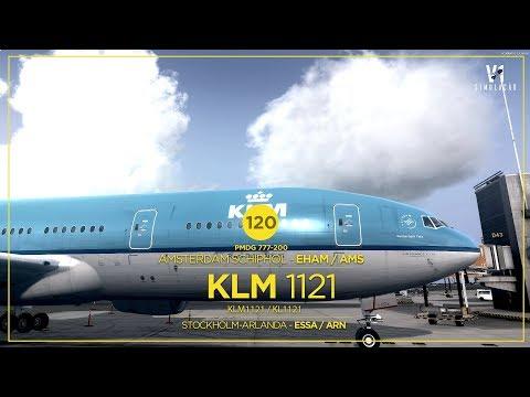 [P3DV4 ] B777 | Amsterdam Schiphol - EHAM / AMS → Stockholm-Arlanda - ESSA / ARN