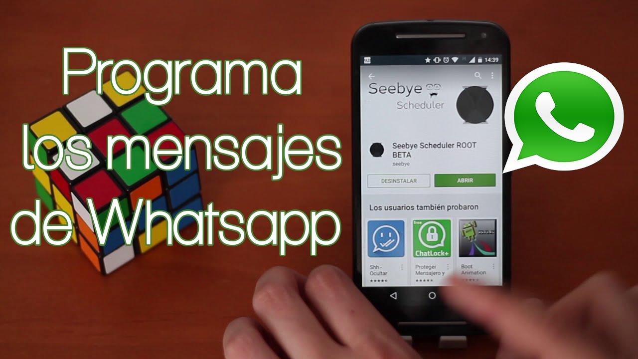 Resultado de imagen para programar mensajes de whatsapp