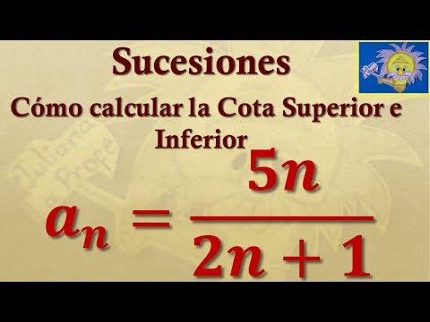 Cómo calcular la Cota inferior y superior de una sucesión.