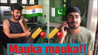 India vs pakistan final match mauka mauka vine by Elvish yadav