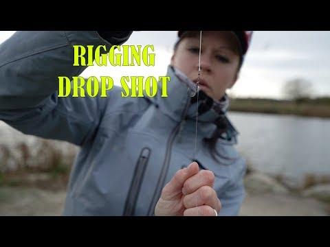 Drop Shot Rigging with Emma using the Mustad No Twist Drop shot hooks.