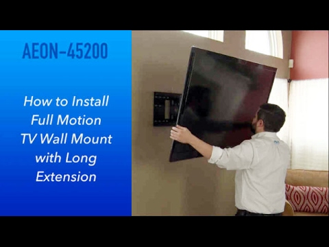 How to Install Full Motion TV Wall Mount with Long Extension