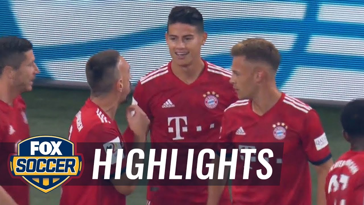 James gives Bayern Munich 1-0 lead vs. FC Schalke 04 | 2018-19 Bundesliga Highlights